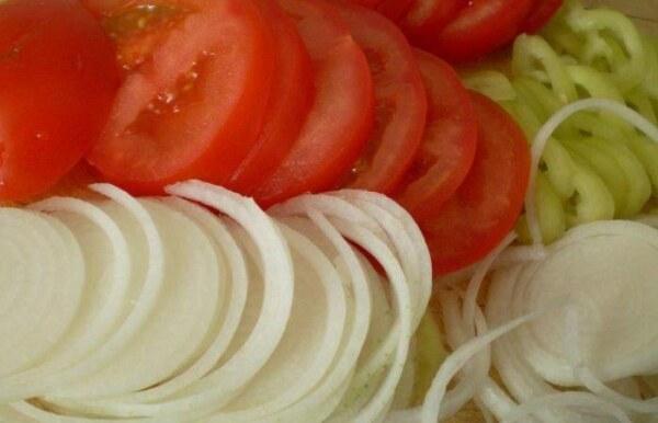 Нарезки овощей для Кубанского салата