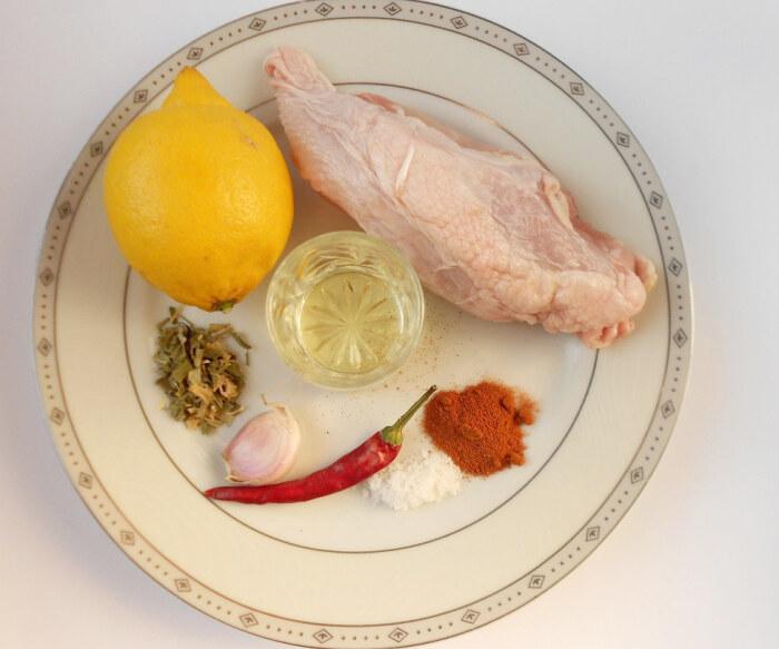 Куриное филе, лимон