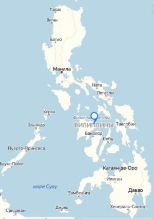 филиппины на карте