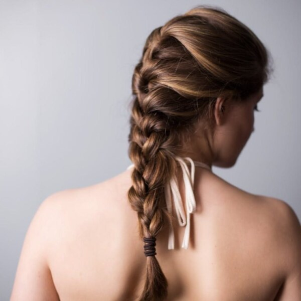 классическая коса, длинные волосы