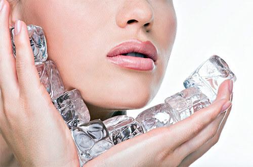 Лед для сужения пор на коже лица