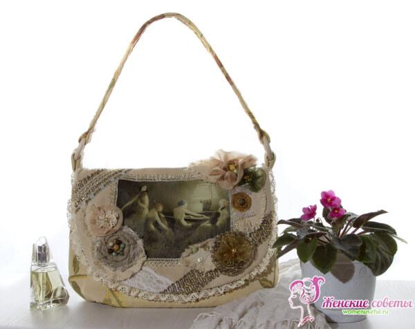 Вельветовая сумка Бохо