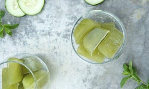 зеленый чай - лед