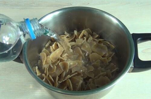 добавление воды в мыло