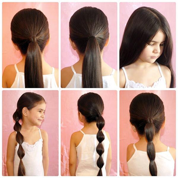 школьница, хвост на длинные волосы