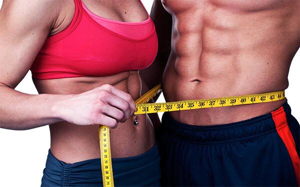 Стройное мужское и женское тело