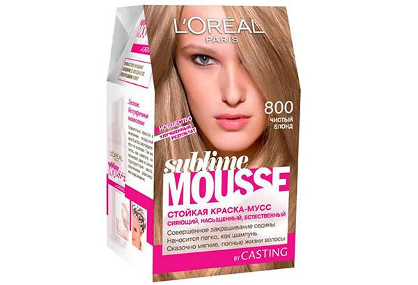 Sublime Mousse краска фирмы Лореаль