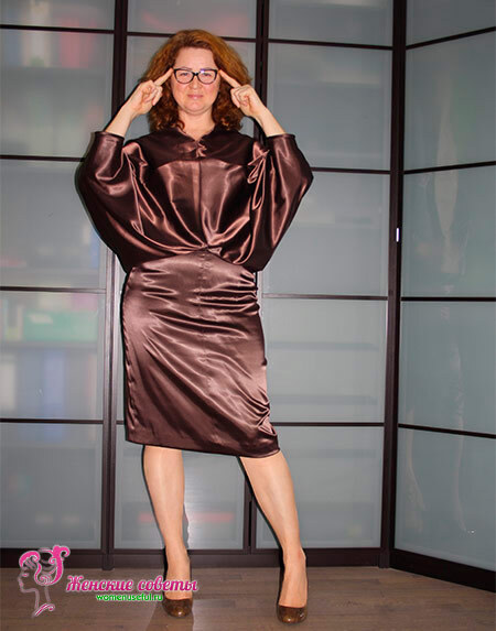 платье летучая мышь на полной женщине