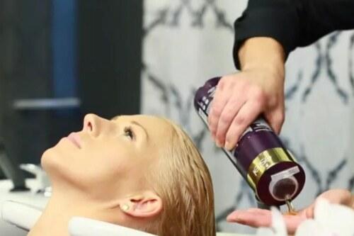 Экранирование волос в салоне с Estel
