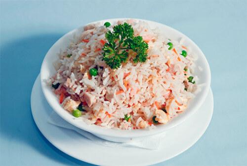 Рис пропаренный с мясом