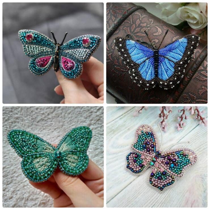 бабочки из бисера