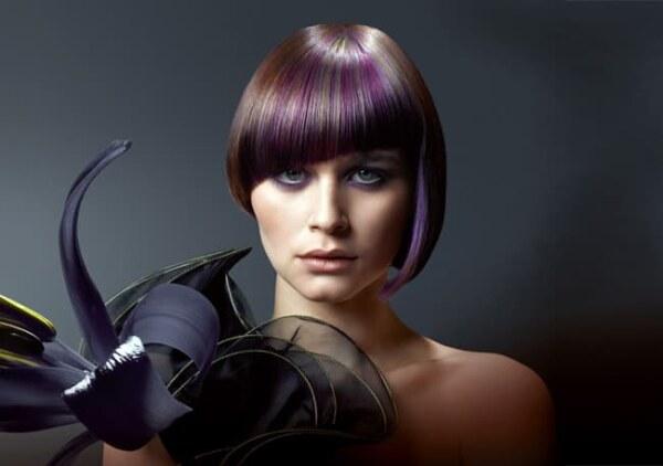 Колорирование на темные волосы