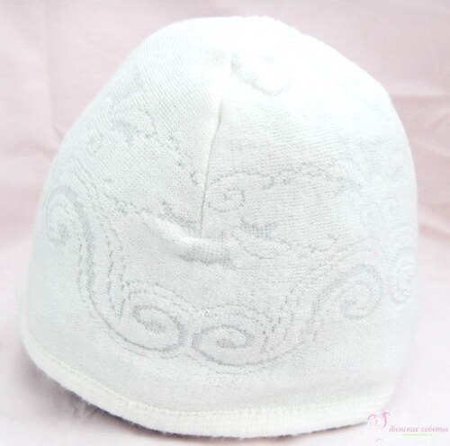Готовая шапочка из трикотажа своими руками