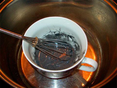 приготовление маски из желатина и угля