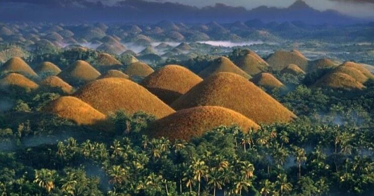 шоколадные холмы, остров бохол