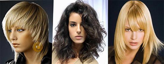 Различные короткие прически, светлые и темные волосы