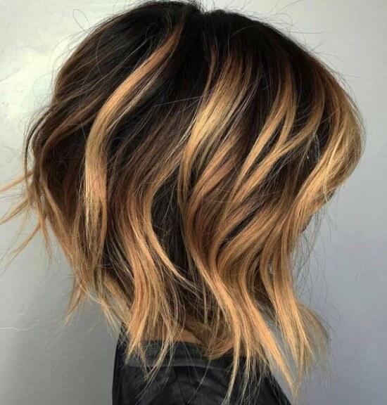 окрашивание балаяж, короткие волосы