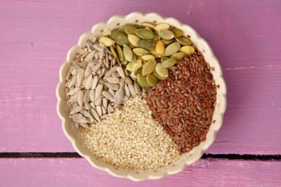 Семена (тыквы, льна, кунжута) полезные для печени