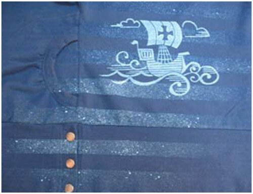 шелкографический рисунок на кофте