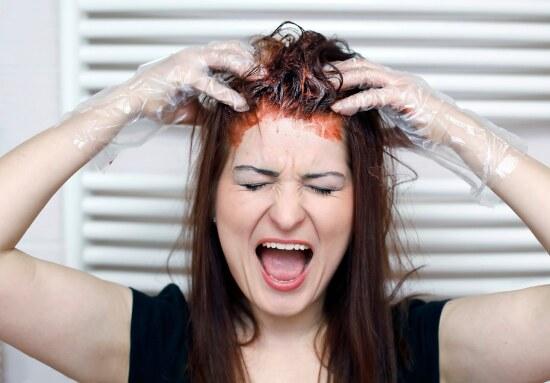 ошибки во время домашнего окрашивания волос