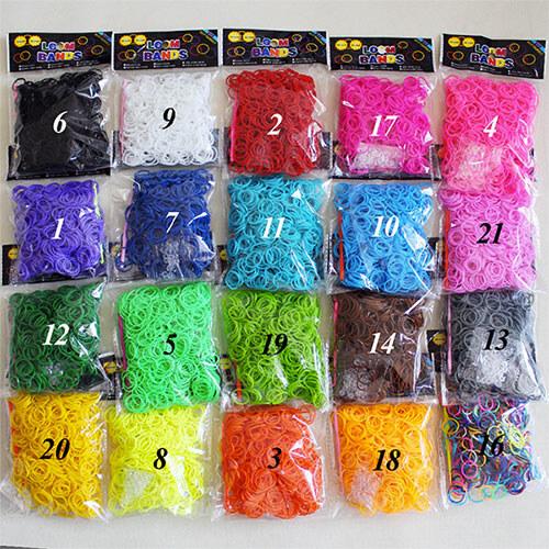Резинки разного цвета