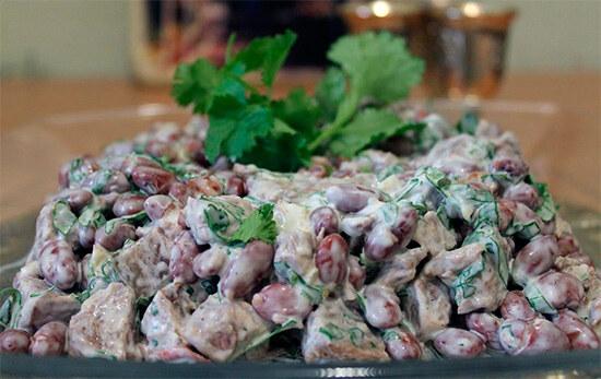 Салат Тбилиси с фасолью