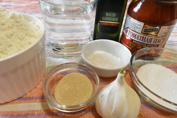 Ингредиенты для приготовления хлеба