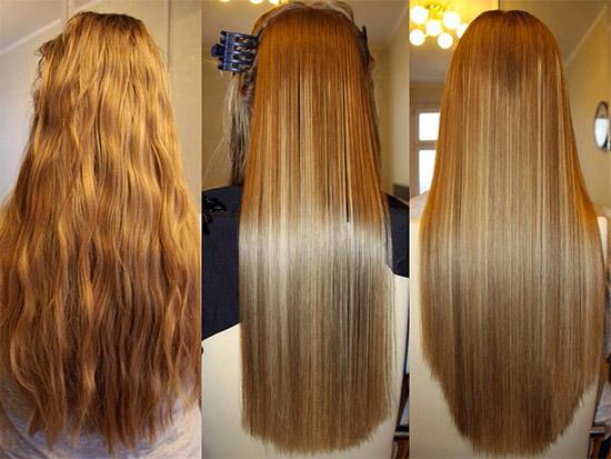 Волосы выровнять