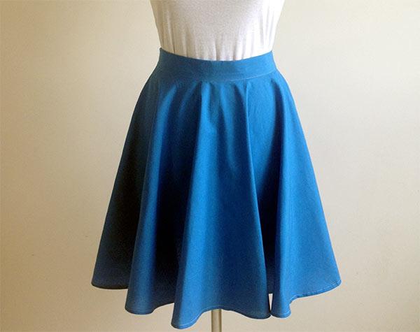 Выкройка юбки ткань полоска