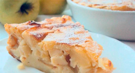 Яблочная запеканка с манкой