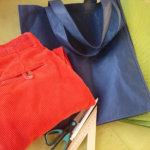 Старые вельветовые брюки и эко сумка