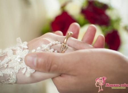 Кольца на пальце невесты