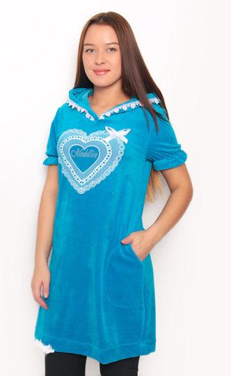 Романтическая синяя туника
