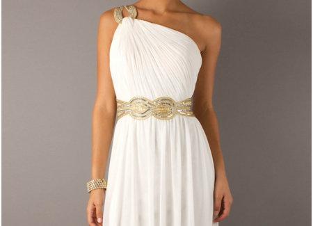 богиня в греческом платье