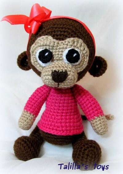 Амигуруми - обезьянка вязаная крючком