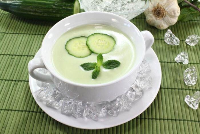 Огуречно мятный суп
