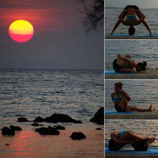 Серия упражнений из Аштанги йоги
