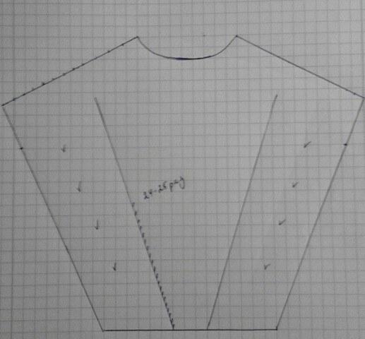 выкройка вязанного платья в летящим рукавом