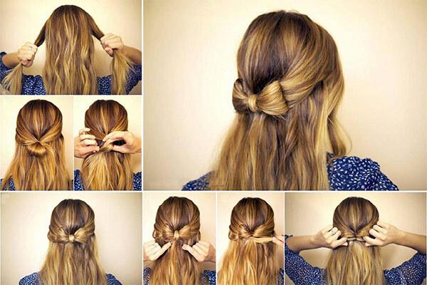 длинные волосы, заплетание хвоста-банта