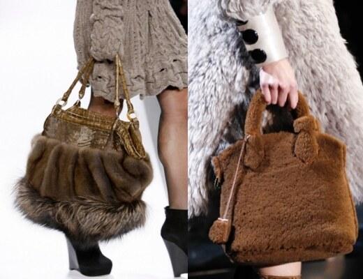 Оригинальная сумки из меха