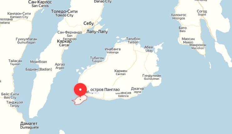 панглао на карте