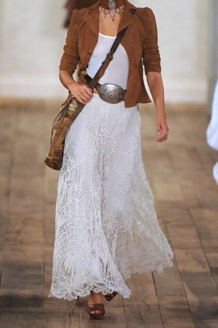 Бохо платье с ремешком