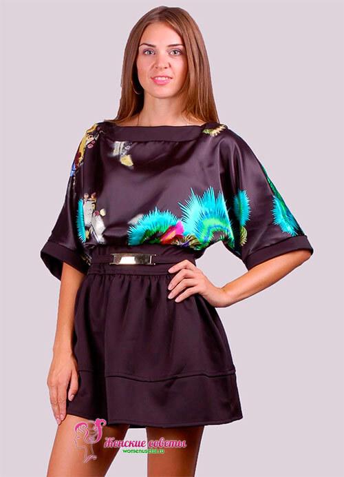 укороченное приталенное платье с цветами