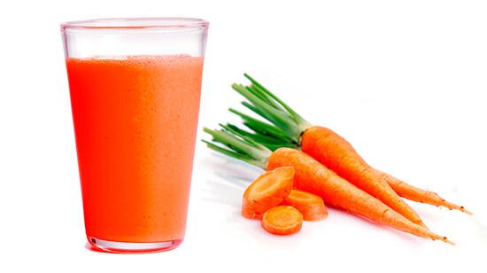 Морковный сок в качестве красителя