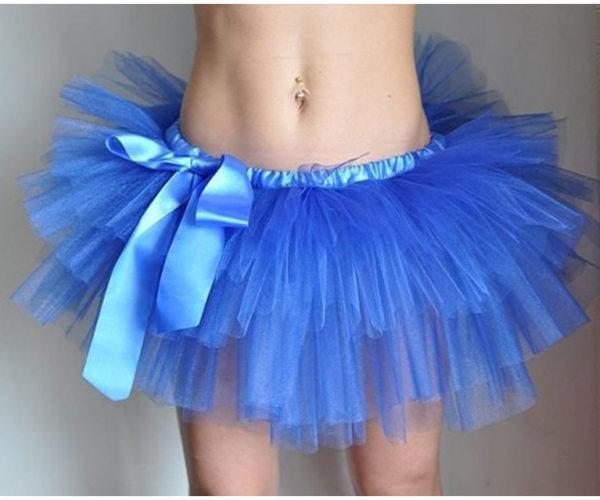 Синяя юбка-пачка из фатина