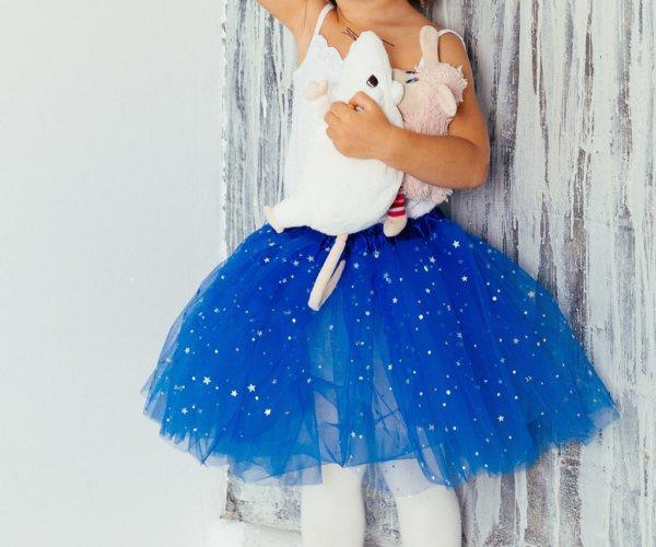 юбка-фатин на маленькой девочке