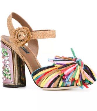 Dolce&Gabbana яркие босоножки